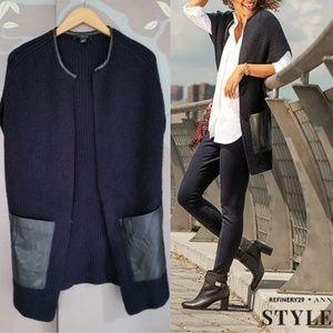 Ann Taylor long sweater vest, New